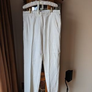 Armani Exchange Linen White Pants